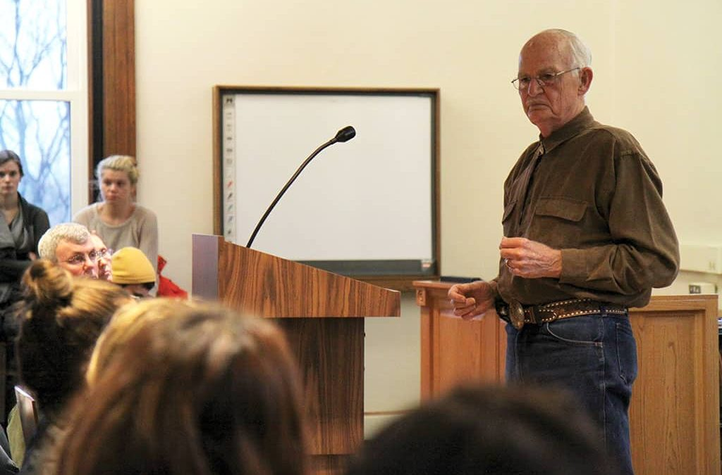 Former Ohio death row inmate Dale Johnston visits campus