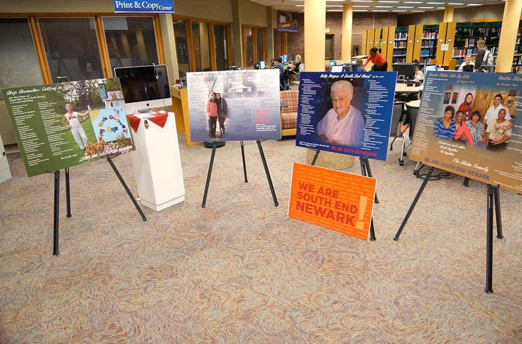 Who is South End Newark? Exhibit visits library