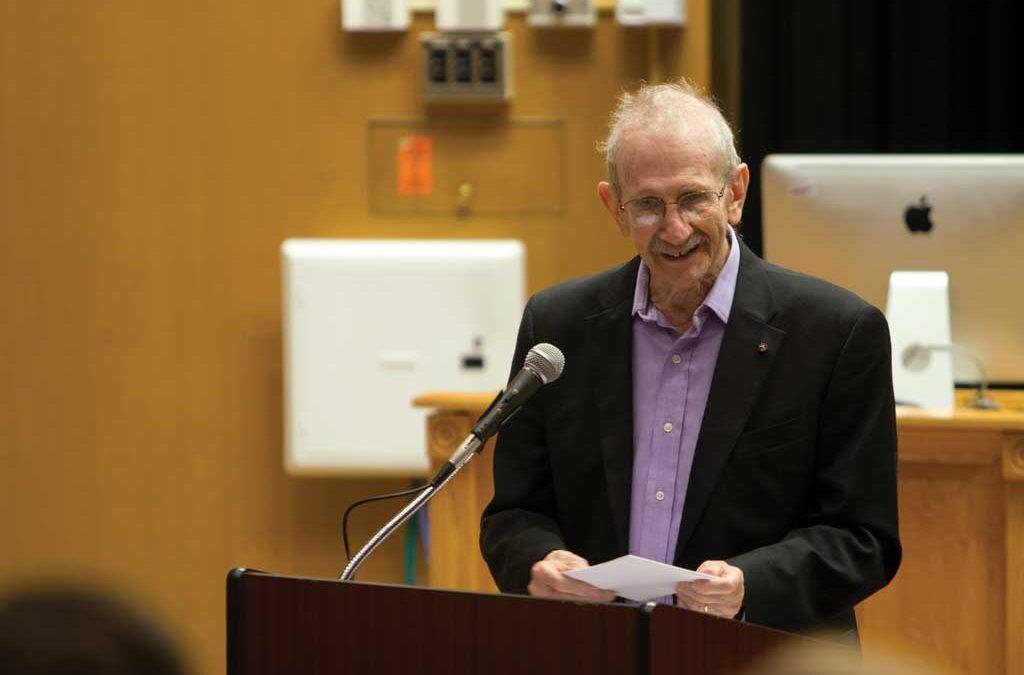 Pulitzer laureate Philip Levine graces Slayter Auditorium