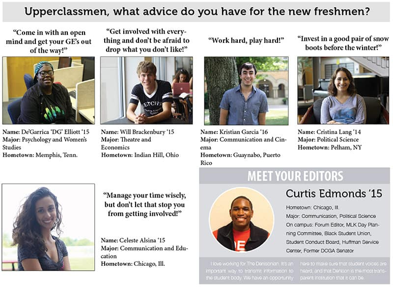 What advice do you have for our first-years?