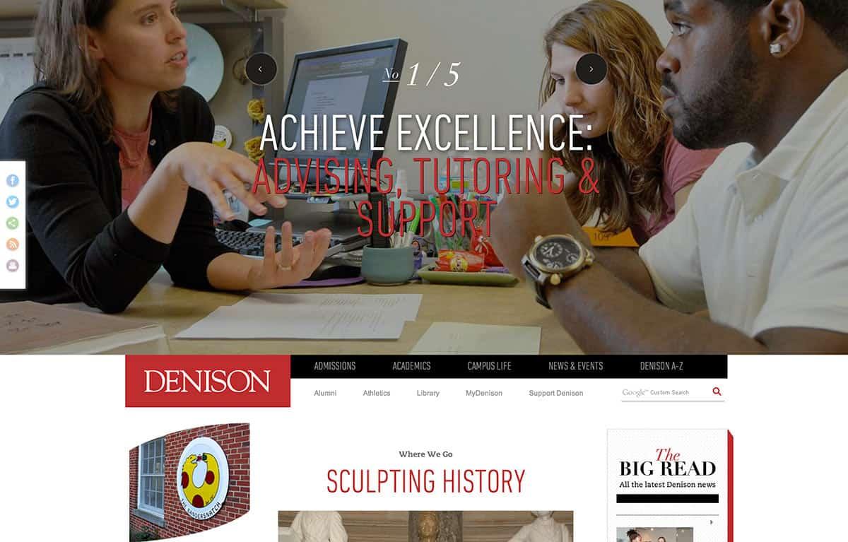 New Denison website raises visibility, targets prospective students