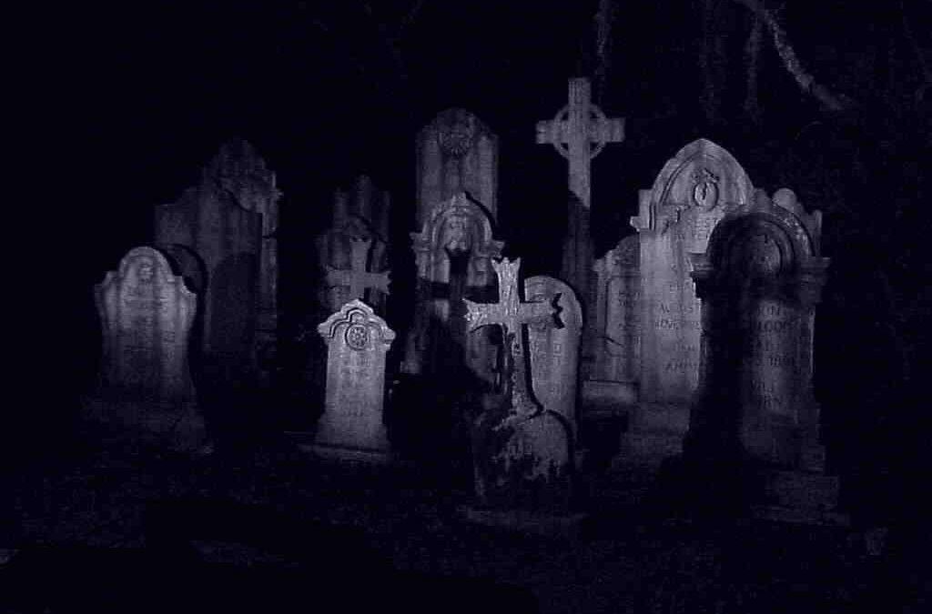 Burpee's brighten cemetery with Halloween humor