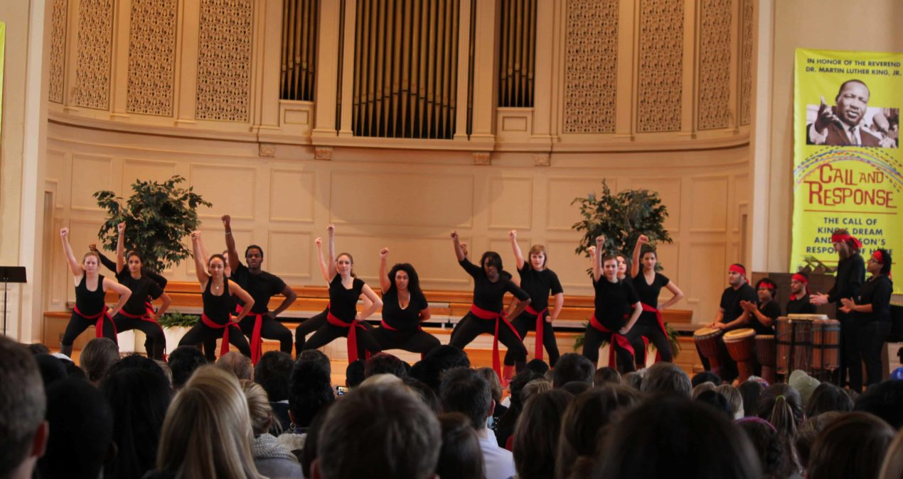 Song and dance fill Swasey in celebration of MLK Day