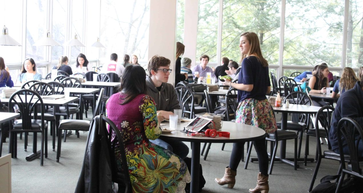 Students share their experiences as dining hall workers