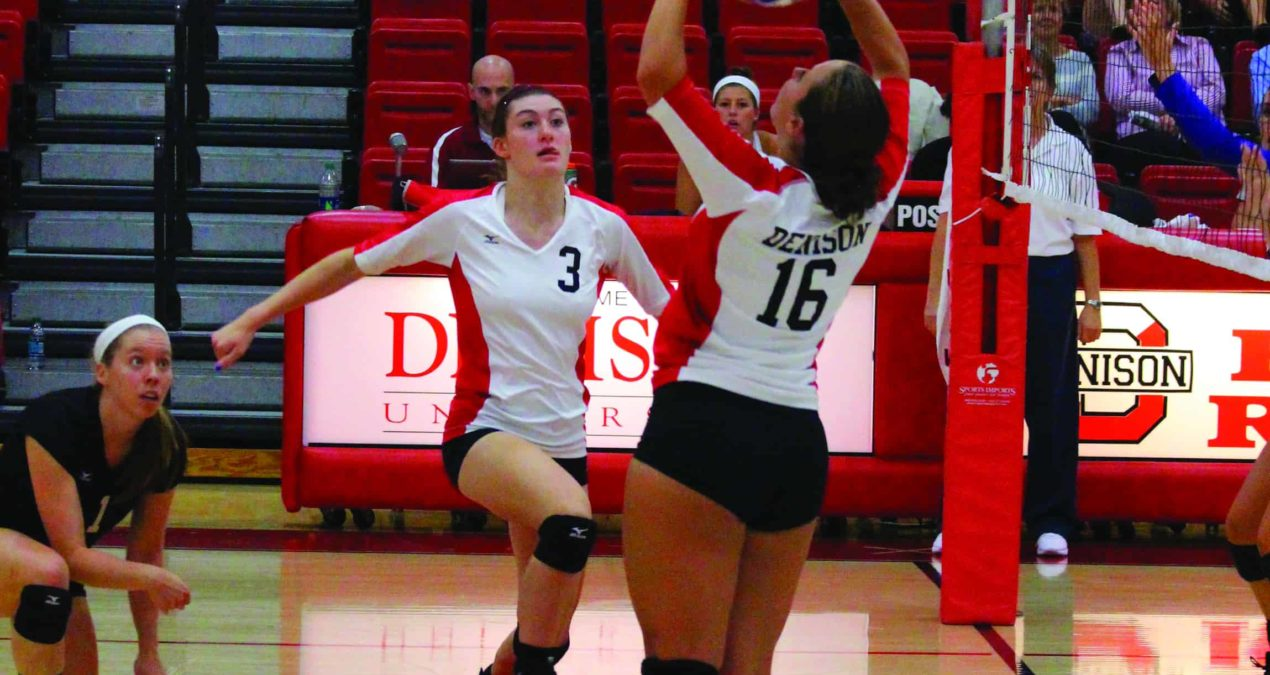 Volleyball drops two in a row before winning one versus Thiel