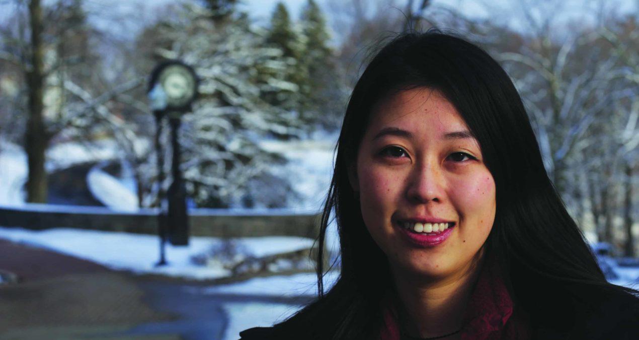 Yi Wu aspiring entrepreneur works to develop new app