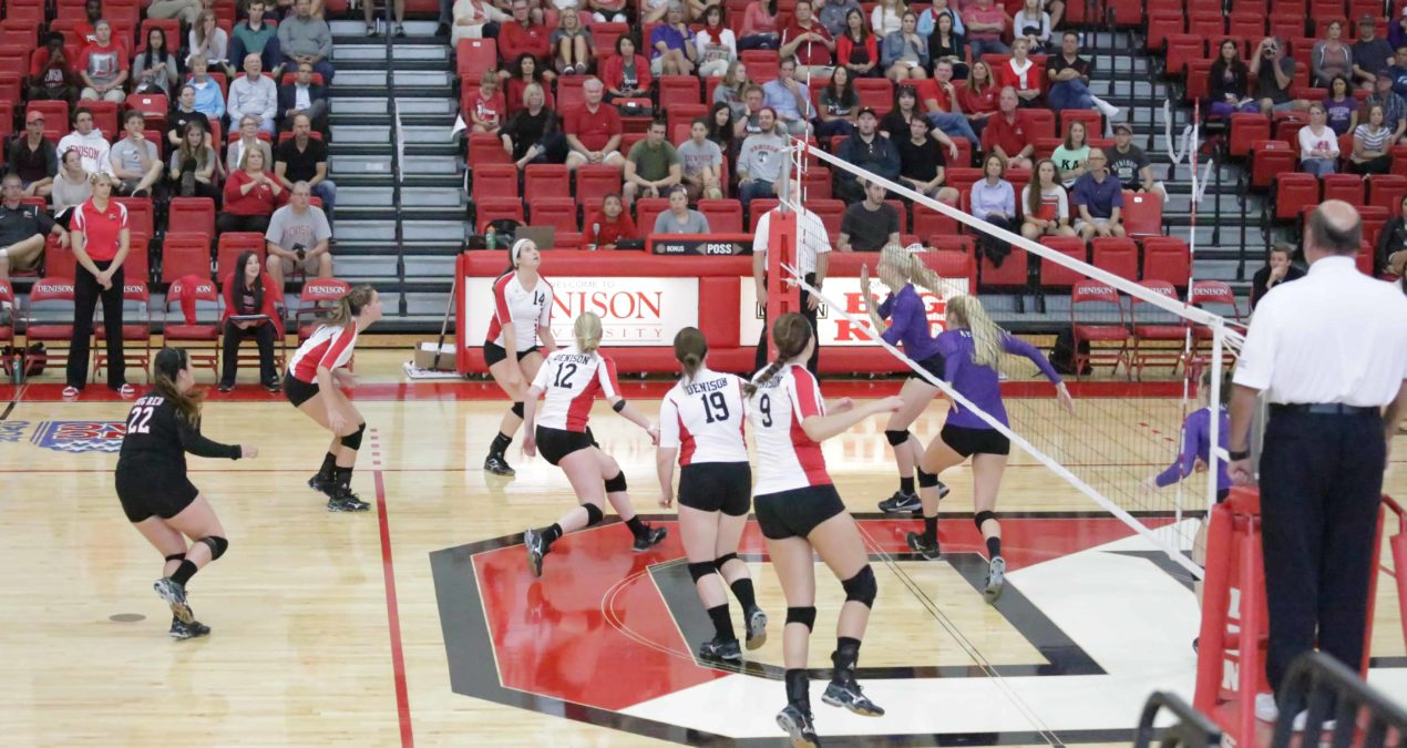 Volleyball suffers straight-set loss to DePauw on the road