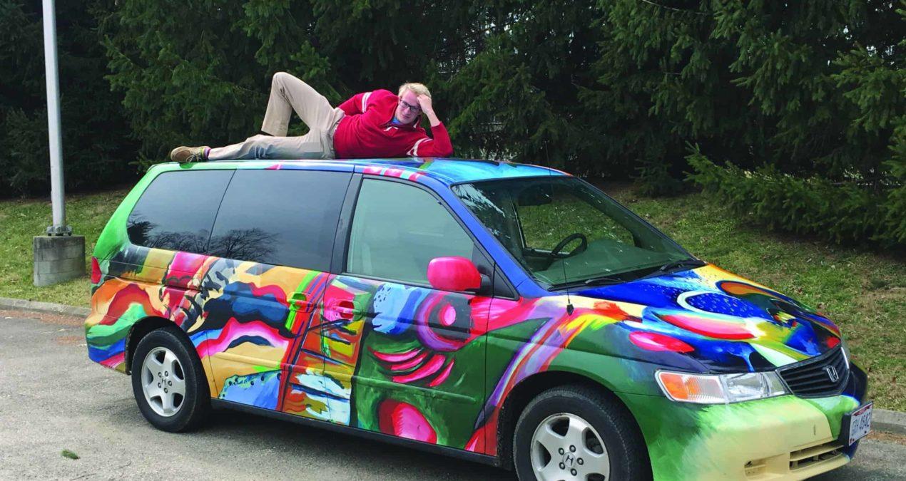 Transportation masterpiece rolls through campus