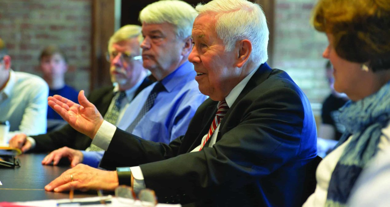Richard Lugar returns to Denison to discuss political turmoil in Washington