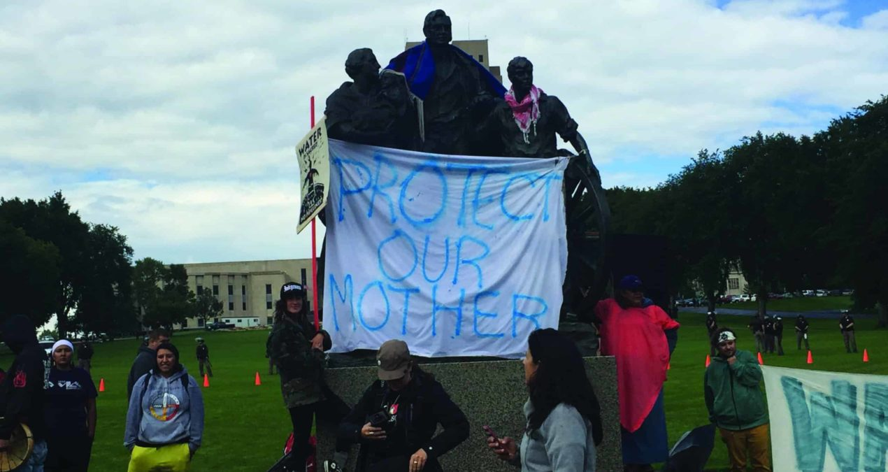 Denison professor participates in Dakota Access Pipeline protest