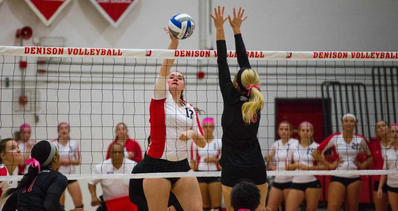 Volleyball team wins one, loses one, in conference games