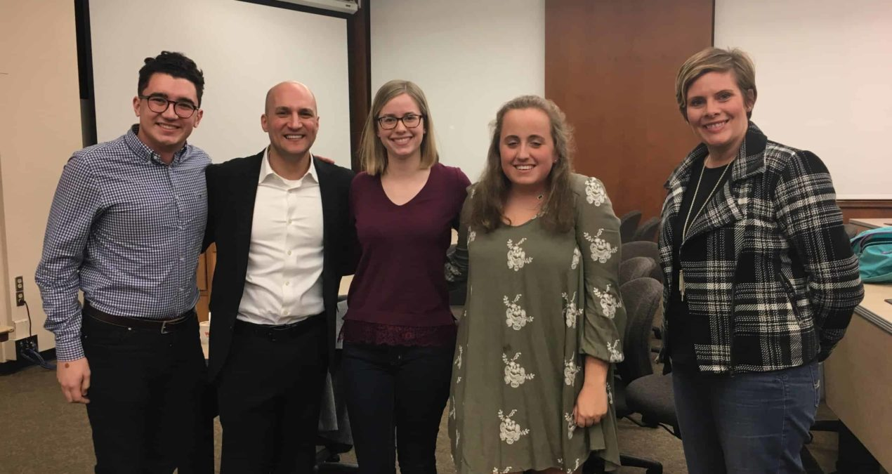 Joe Schiavoni visits Denison as he runs for Ohio Governor position in Fall 2018