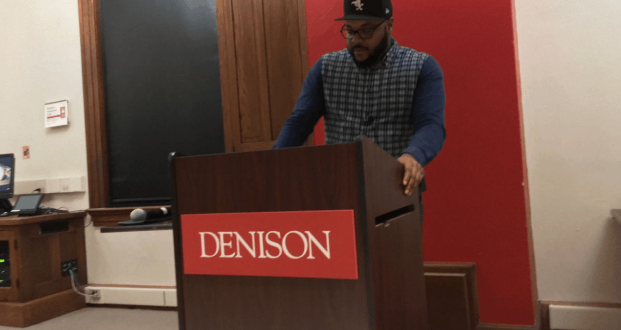 Nate Marshall shares poetry with students