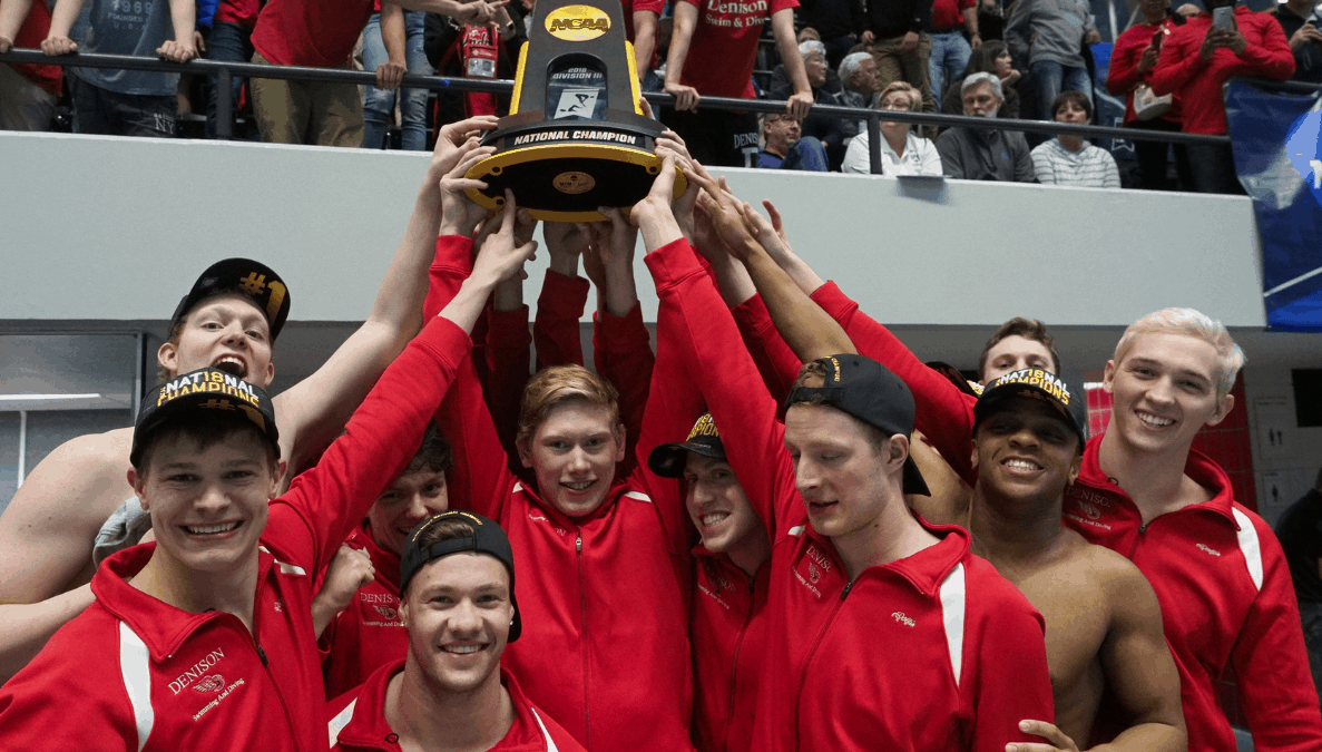 Denison men's swimming & diving win championship