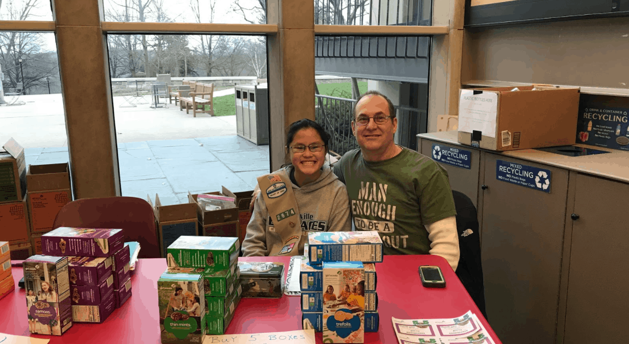 Farewell to the Girl Scouts in Slayter Union