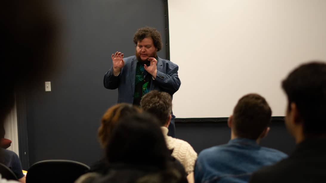 Stephen Broomer stops by campus for a screening