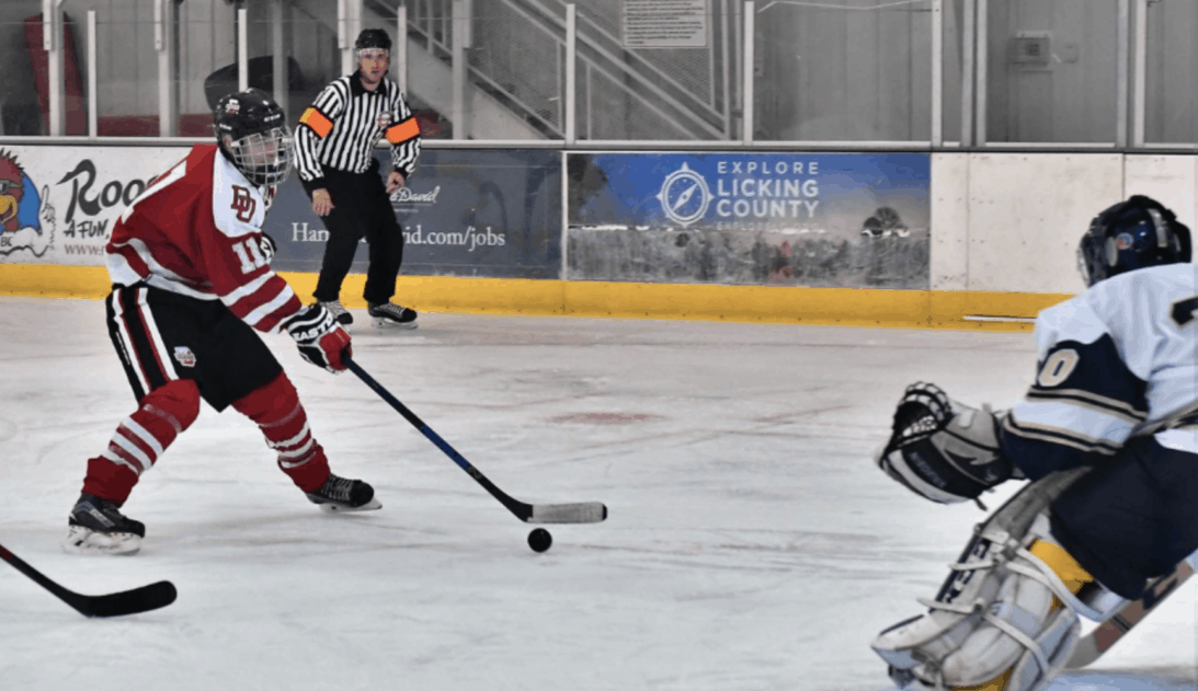 The Big Red hockey team remain undefeated with a double triumph over Akron University