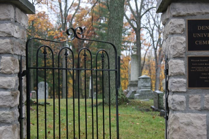 The legacy of Denison's cemetery and its famous alumnus