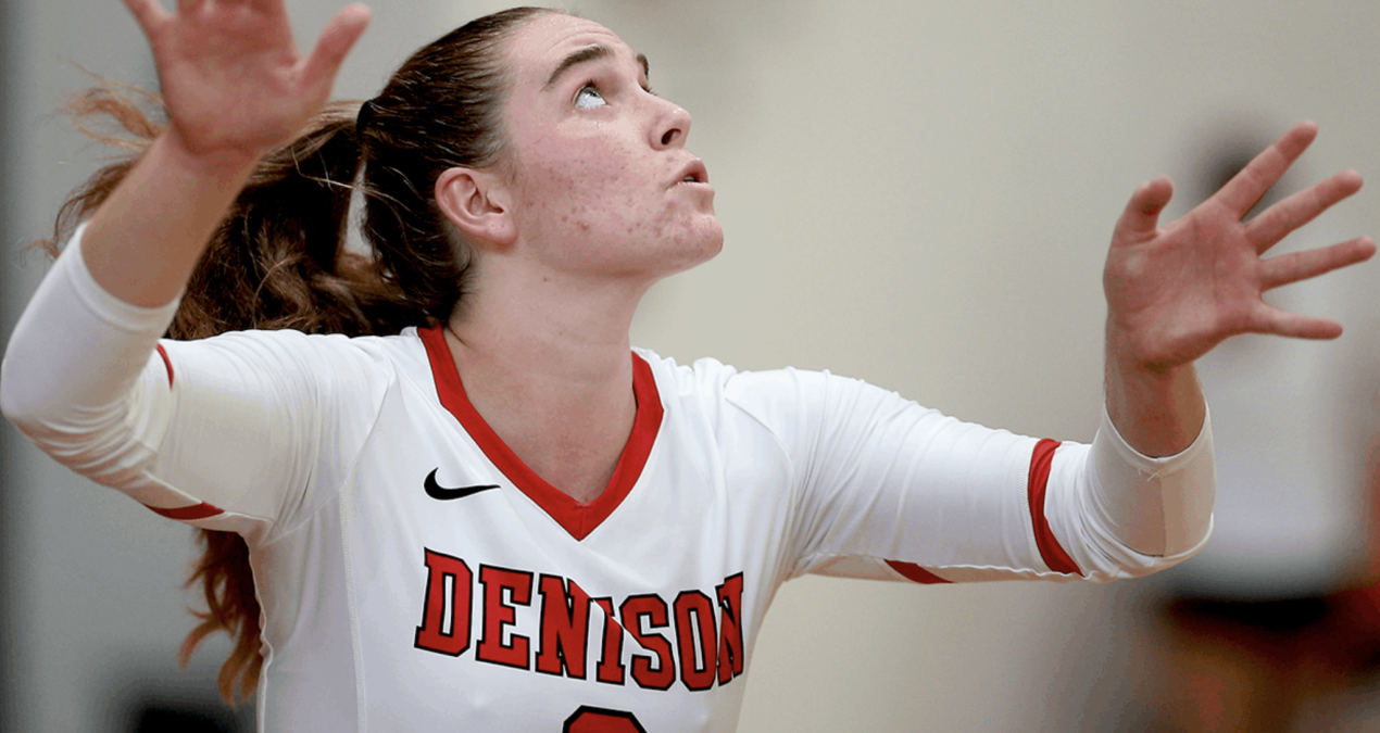 Denison volleyball falls to DePauw in NCAC championship