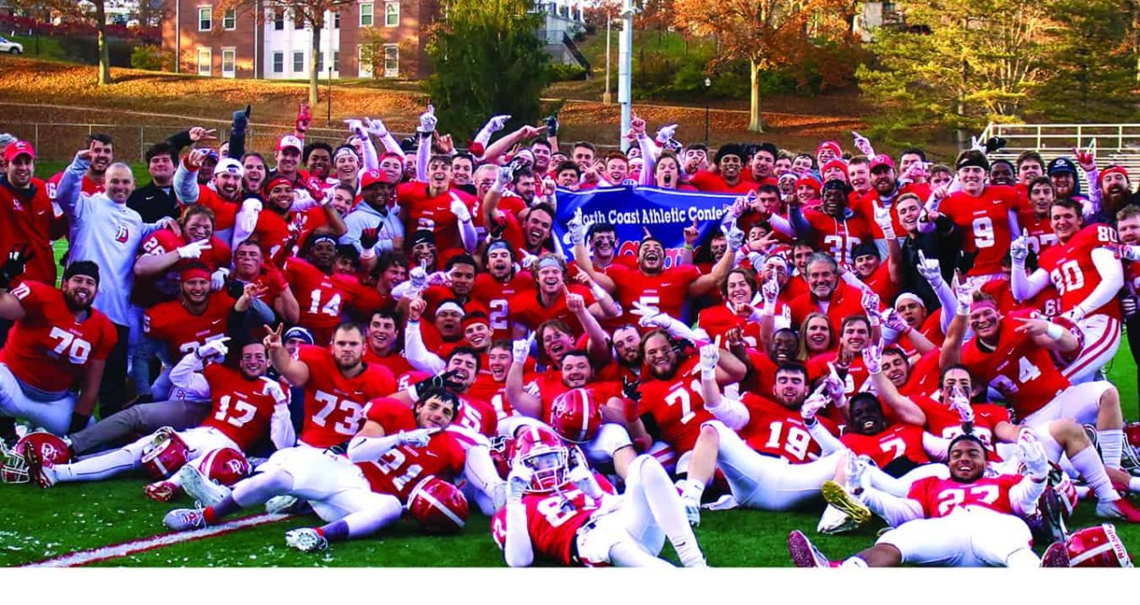 Football tops Kenyon, captures second straight share of NCAC title