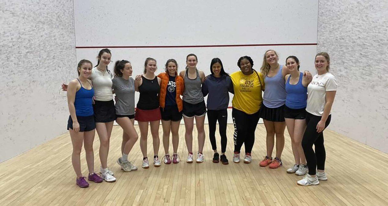 Back to basics: Professional squash player Nicol David visits