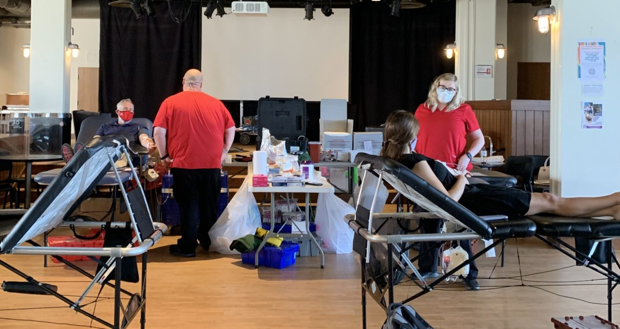 The Red Cross hosts reoccurring blood drives on campus