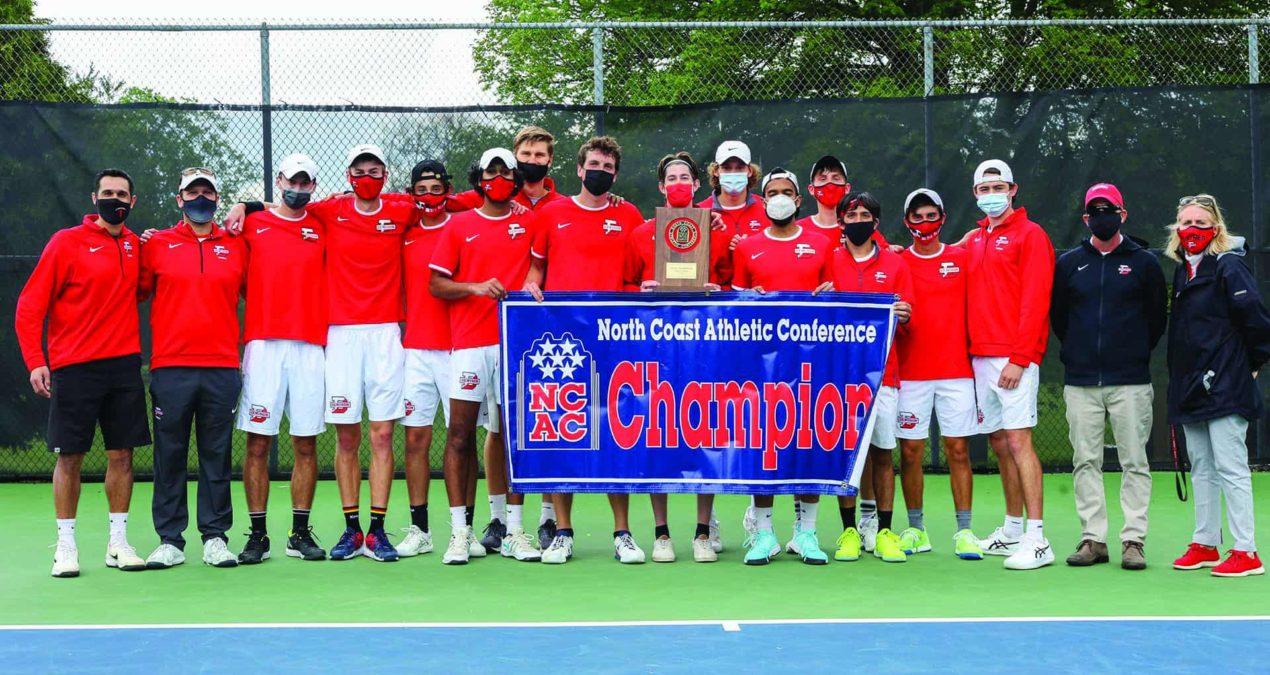 Denison Men's Tennis wallops DePauw 5-0 to win NCAC Championship